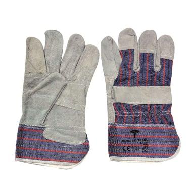 Работни ръкавици, телешка кожа и плат, N 10 / XL