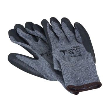 Работни ръкавици Heavy Duty, Latex, сиви, 9 / L