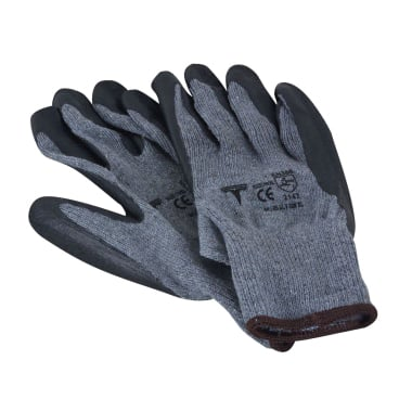 Работни ръкавици Heavy Duty, Latex, сиви, 10 / XL