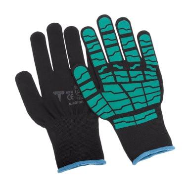 Работни ръкавици Spider, Latex, зелени, 9 / L