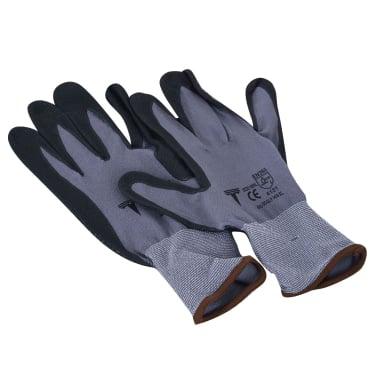 Работни ръкавици, PVC, нитрилени точки, 10 / XL