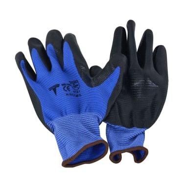 Работни ръкавици с оребрена длан, нитрил, 10 / XL