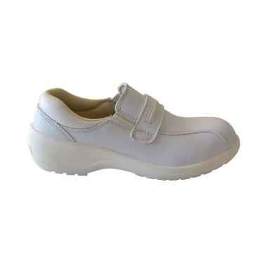 Работни обувки ВК дамски, кожа, S1P, бели, EU 40