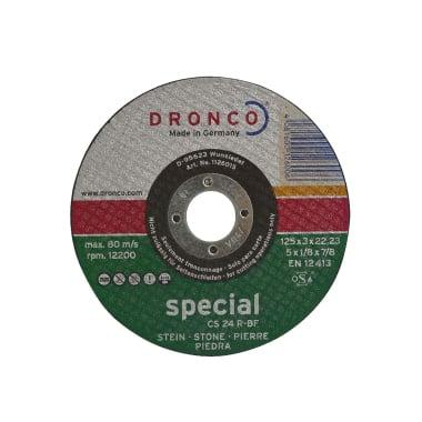 Диск за рязане на гранит, бетон DRONCO Special CS24R, Ф 125 x 3.0 х 22.23 мм