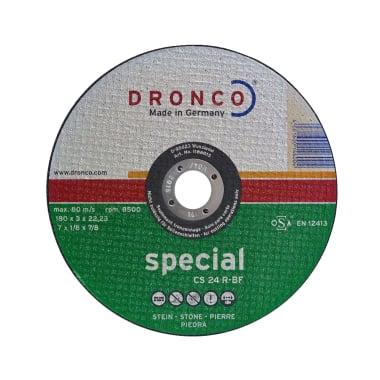Диск за рязане на гранит, бетон DRONCO Special CS24R, Ф 180 x 3.0 х 22.23 мм