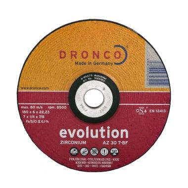 Диск за шлайфане на INOX, изпъкнал, DRONCO Evolution AZ30T, Ф 115 x 6.0 х 22.23 мм