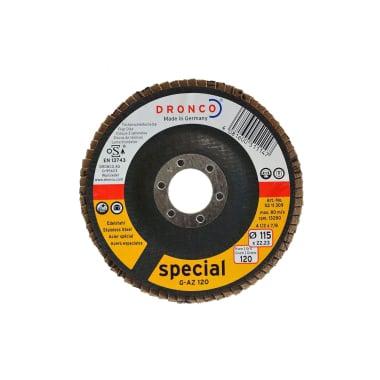 Ламелна шайба за INOX, изпъкнала, DRONCO Special G - AZ, Ф 115 x Ф 22.23 мм, Р120