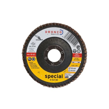 Ламелна шайба за INOX, изпъкнала, DRONCO Special G - AZ, Ф 115 x Ф 22.23 мм, Р40