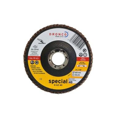 Ламелна шайба за INOX, изпъкнала, DRONCO Special G - AZL, Ф 125 x Ф 22.23 мм, Р40