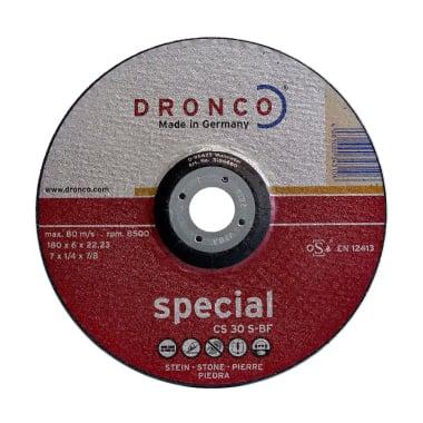 Диск за шлайфане на бетон, камък, изпъкнал, DRONCO Special CS30S, Ф 180 x 6.0 х 22.23 мм