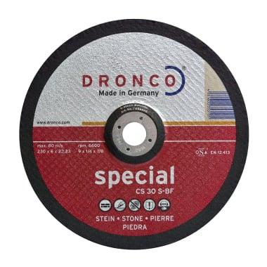 Диск за шлайфане на бетон, камък, изпъкнал, DRONCO Special CS30S, Ф 230 x 6.0 х 22.23 мм