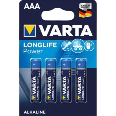 Алкални батерии VARTA, AAA, 1.5 V, 4 броя