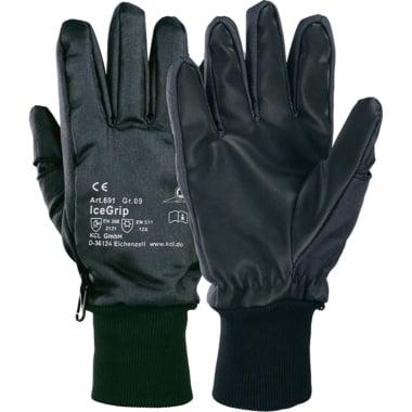 Ръкавици HONEYWELL, Icegrip, -50°C, PVC, Thinsulate, черни, N 9
