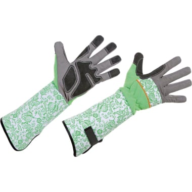 Ръкавици за рози, микрофибър, сиво - черно, зелено - бeли, N 8