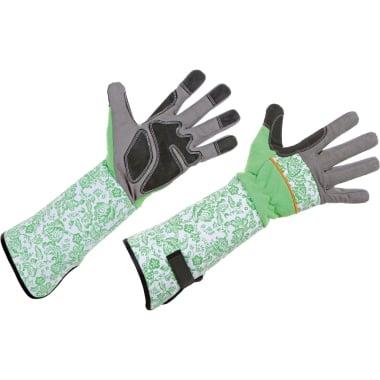 Ръкавици за рози, микрофибър, сиво - черно, зелено - бeли, N 10