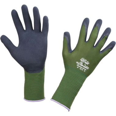 Ръкавици градински Garden Foresta, латекс - найлон, черно - зелено, N 7