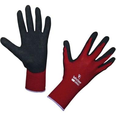 Ръкавици градински Soft N Care, нитрил - найлон, черно - червен, N 8