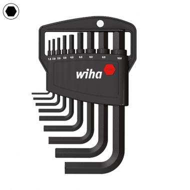 Комплект Г-образни ключове WIHA, SW 1.5 - 10, 9 части