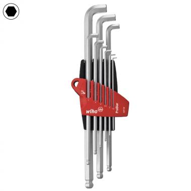 Комплект Г-образни ключове с топче WIHA, SW 1.5 - 10, 9 части