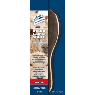 Стелки за обувки BARTH Lamm, агнешка кожа, N 44