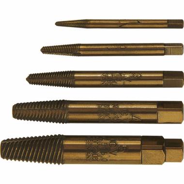 Комплект екстрактори за болтове SCHRÖDER, ТР, 5 части
