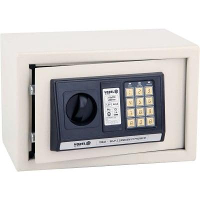 Метален сейф с електронен шифър и ключ VOREL, 31 х 20 х 20 см