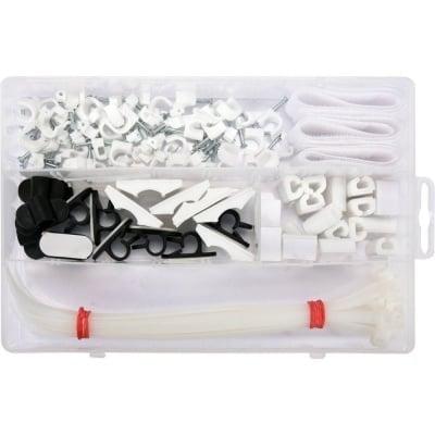 Комплект за фиксиране на кабели VOREL, 124 части