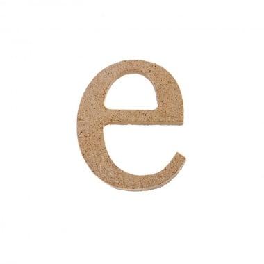 """Декоративен символ RicoDesign, """"e"""", MDF, 2,8X2,3 cm"""