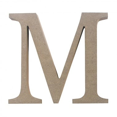 "Декоративен символ RicoDesign, ""M"", MDF, 4,1x4,8 cm"