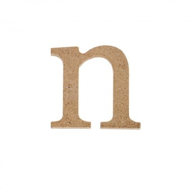 "Декоративен символ RicoDesign, ""n"", MDF, 2,8X3,0 cm"