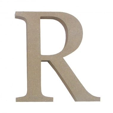"Декоративен символ RicoDesign, ""R"", MDF, 4,1x3,9 cm"