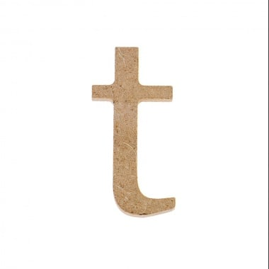 "Декоративен символ RicoDesign, ""t"", MDF, 4,1x2,0 cm"
