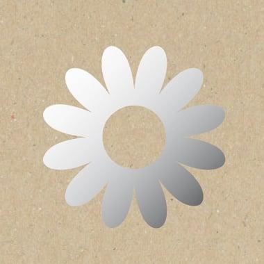 Декоративна фигура Rico Design, ГЕРБЕР, SILVER, 8.5/8 cm