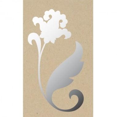Декоративна фигура Rico Design, ОРНАМЕНТ ЦВЕТЕ, SILVER, 9.5/11.5 cm