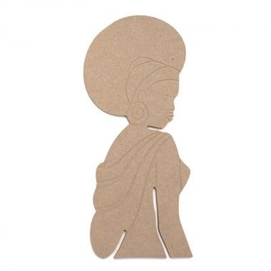 Декоративна фигура Rico Design, АФРИКАНКА, MDF, 23/10/0.5 cm