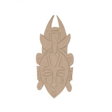 Декоративна фигура Rico Design, АФРО.МАСКА, MDF, 18.5/8.5/0.5 cm