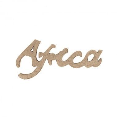 Декоративна фигура Rico Design, АФРО-ПИСМЕНОСТ, MDF, 12.5/6/0.5 cm