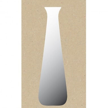 Декоративна фигура Rico Design, ВИСОКА ВАЗА, SILVER, 7.5/19.5 cm