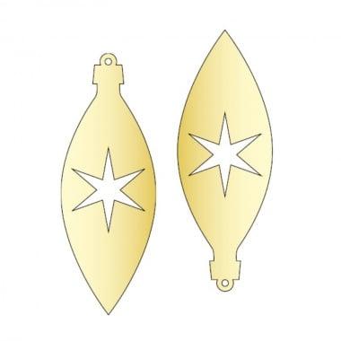 Декоративна фигура Rico Design, ВИСУЛКА 1 2ч., GOLD, 11/4 cm