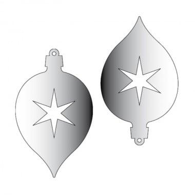 Декоративна фигура Rico Design, ВИСУЛКА 2 2ч., SILVER, 9.3/5.6 cm