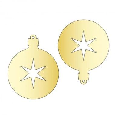 Декоративна фигура Rico Design, ВИСУЛКА 3 2ч., GOLD, 7.6/6 cm