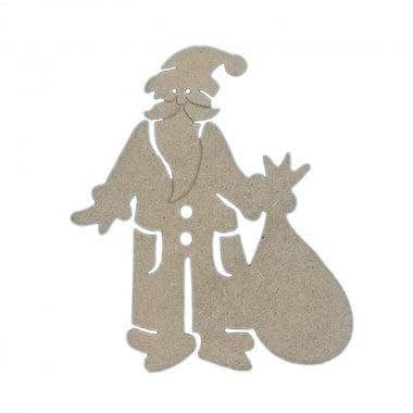 Декоративна фигура Rico Design, ДЯДО КОЛЕДА, MDF, 15.5/13.5/0.5 cm