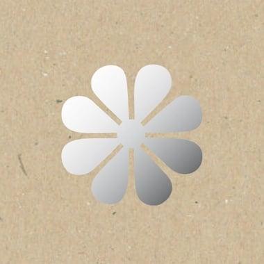 Декоративна фигура Rico Design, ЗАКРЪГЛЕН ЦВЯТ, SILVER, 8/8 cm