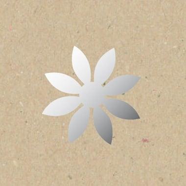 Декоративна фигура Rico Design, ЗАОСТРЕН ЦВЯТ, SILVER, 5/5 cm