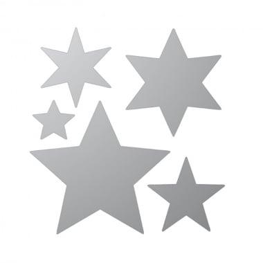 Декоративна фигура Rico Design, ЗВЕЗДИ 5ч., SILVER