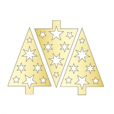 Декоративна фигура Rico Design, КОЛЕДНО ДЪРВО, GOLD, 11.5/7.5 cm