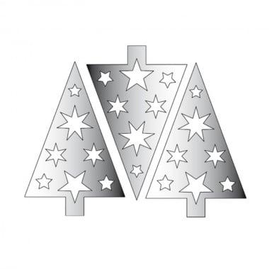 Декоративна фигура Rico Design, КОЛЕДНО ДЪРВО, SILVER, 11.5/7.5 cm