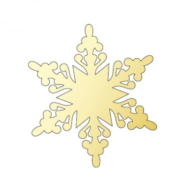 Декоративна фигура Rico Design, КРИСТАЛ 2, GOLD, 8.1/9.3 cm