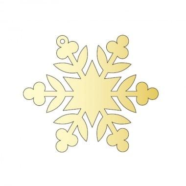 Декоративна фигура Rico Design, КРИСТАЛ 3, GOLD, 7.8/9 cm