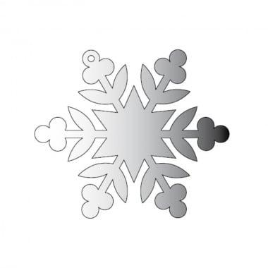 Декоративна фигура Rico Design, КРИСТАЛ 3, SILVER, 7.8/9 cm